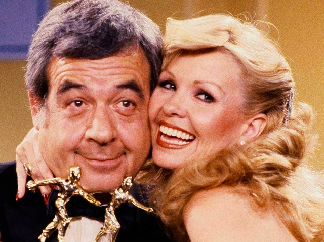 Actor Tom Bosley Embraces Wife Patricia Carr Bosley