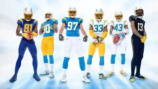 The Los Angeles Chargers unveiled their newest jerseys on April 21.