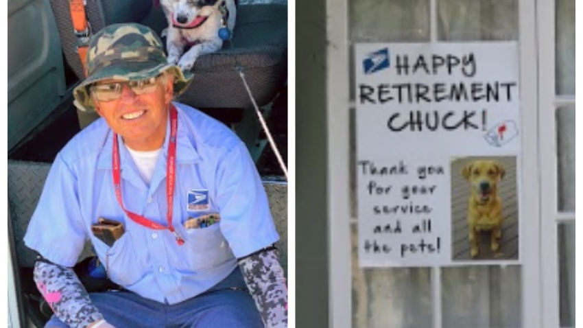 A University Heights neighborhood threw a farewell celebration for USPS mailman, Chuck Starr, as he heads on for retirement.