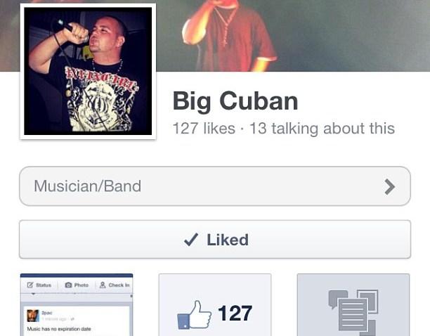 [ggb] if ya on facebook go like my music page Big Cuban #bigcuban #gogetemboy #wickedmusic #paininc #slidell #louisiana #neworleans #facebook #rap #hiphop #ggb #gogetemmusic