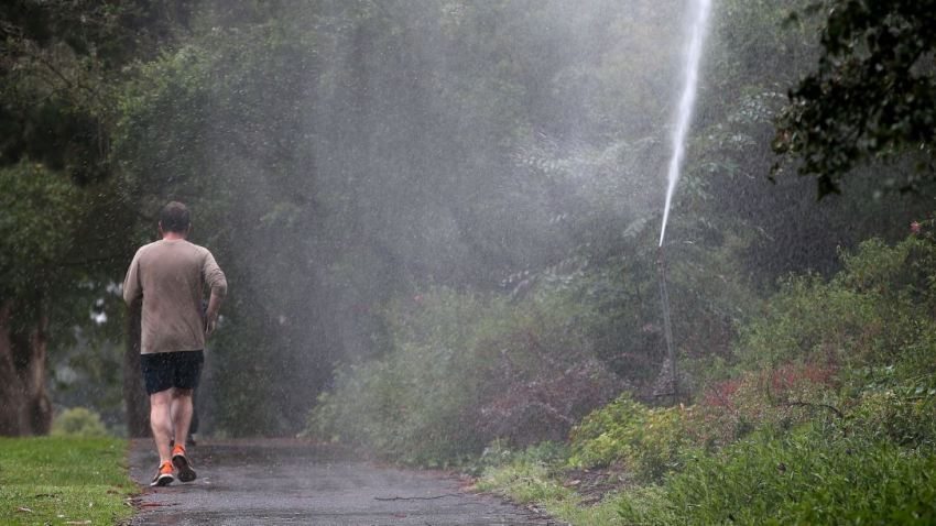 drought jogger sprinkler getty