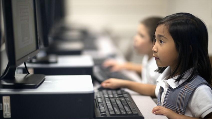 education+stock+latino+school+students+kids+computer+classroom