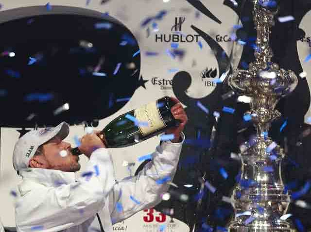 Larry Ellison Celebrating Americas Cup win