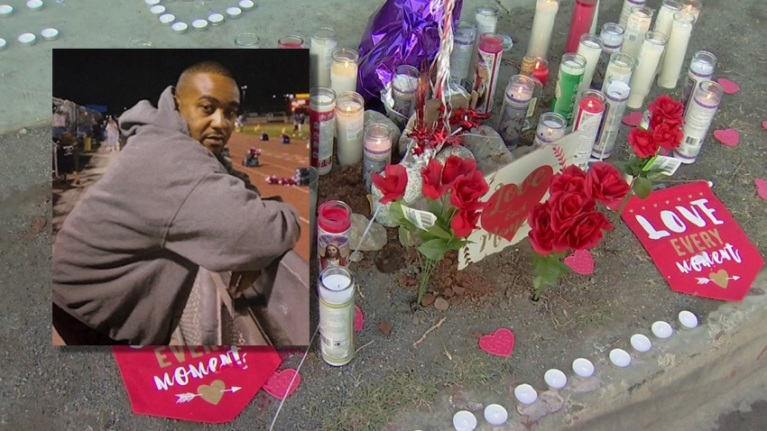 Memorial outside homeless shelter for slain guard