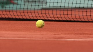 In this May 29, 2008, file photo, a ball is pictured at the French Tennis Open, at Roland Garros, in Paris.