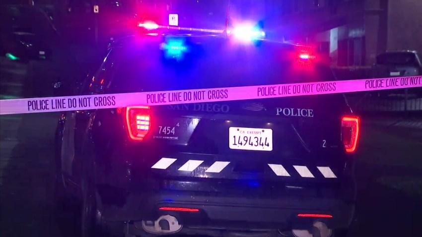 A generic San Diego police patrol car.