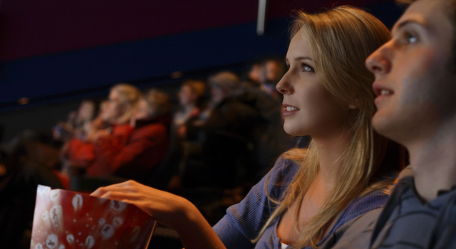 Independt film movie theater generic popcorn
