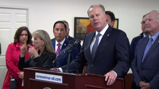 Mayor Kevin Faulconer issued a state of emergency in San DIego March 12 in response to the coronavirus pandemic.