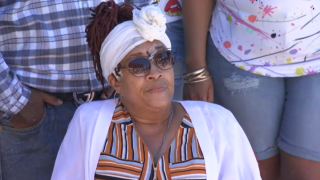 Leslie Furcron, the 59-year-old woman who was shot in the forehead with a bean bag round by a La Mesa police officer, speaks out for the first time on Wednesday, June 10, 2020.