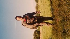 Robert Mendoza in parachute gear