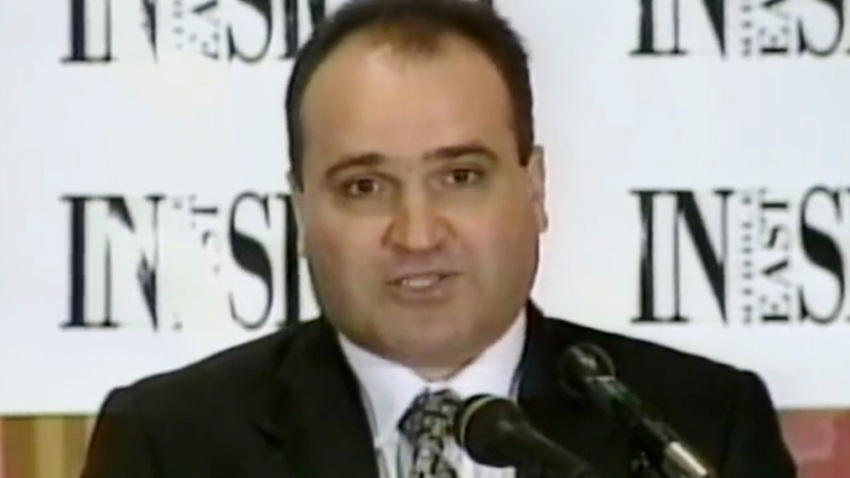 FILE - This 1998 frame from video provided by C-SPAN shows George Nader, president and editor of Middle East Insight.