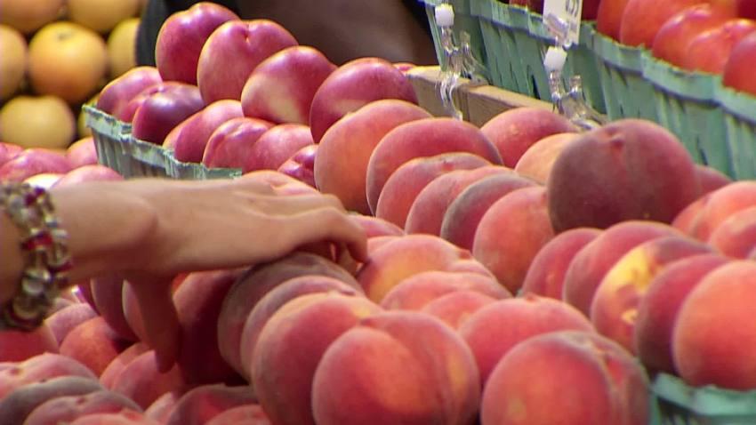 peach grocery shopping