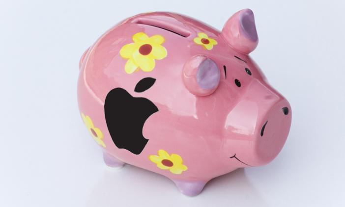 piggy bank apple