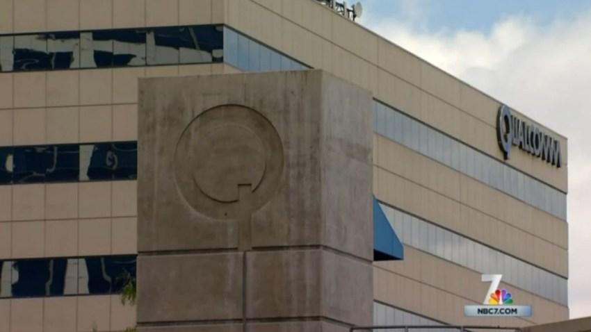 qualcomm company buiding logo