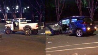 The scene of a crash on Rancho Bernardo Road on Jan. 6, 2019.