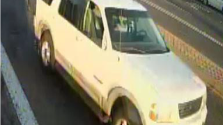 A vehicle involved in a hit and run crash.