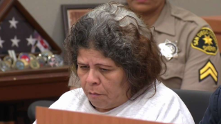 Shirley Montano in court.