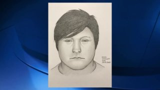A sketch of a sexual assault suspect.
