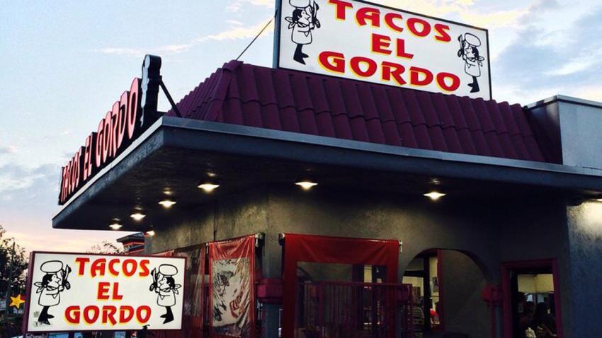 An image of a Tacos El Gordo restaurant.