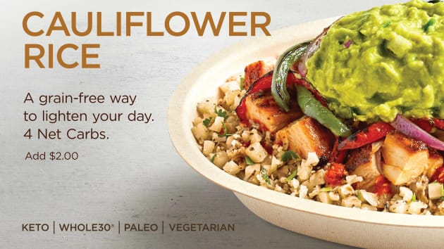 Chipotle Mexican Grill's Cilantro-Lime Cauliflower Rice
