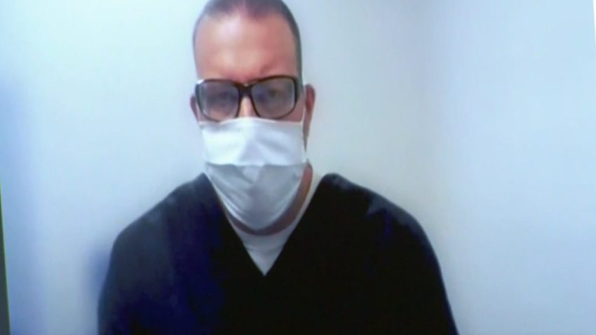 Christopher Dougherty in court on July 22