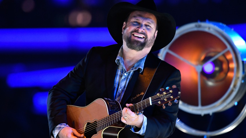 In this Feb. 8, 2019, file photo, Garth Brooks performs onstage during MusiCares Person of the Year honoring Dolly Parton at Los Angeles Convention Center in Los Angeles, California.