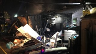 The house on Mohawk Street in La Mesa was badly damaged by the blaze.