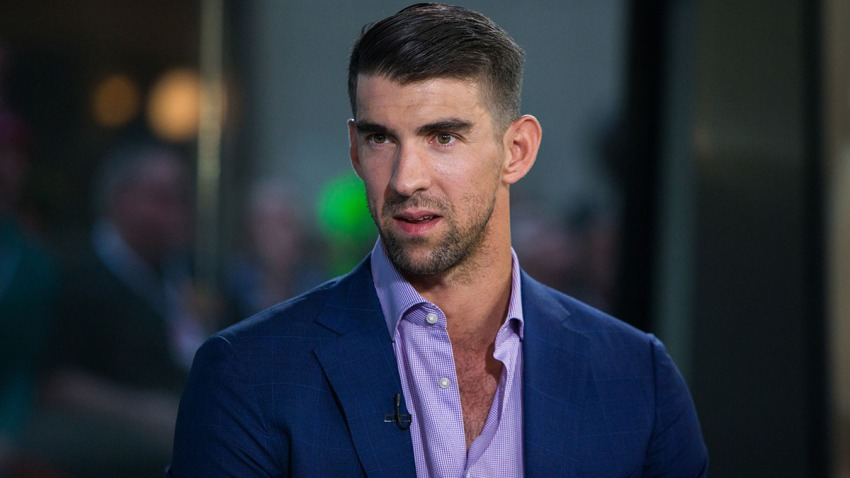 Retired Olympic swimmer Michael Phelps appears on The TODAY Show, Oct. 19, 2017.