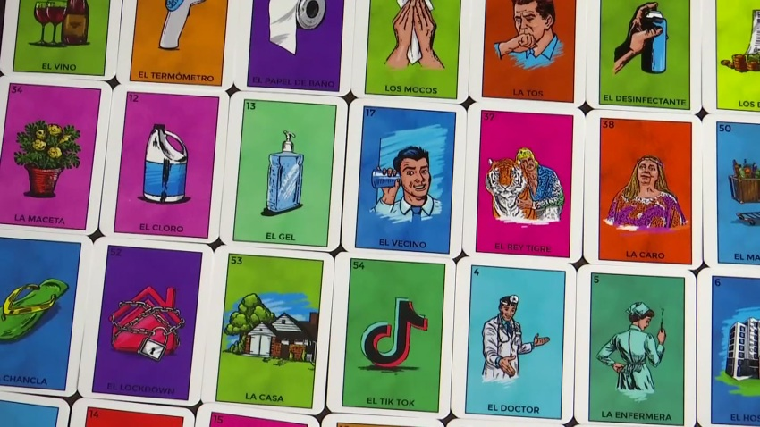 Playing cards from Loteria Quarentena