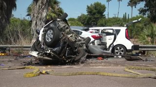 At least two cars involved in a deadly crash