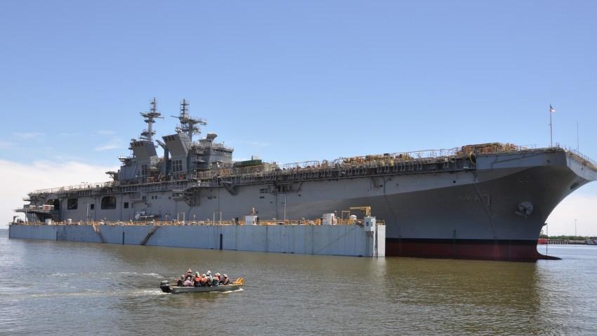 USS Tripoli in Mississippi in 2017