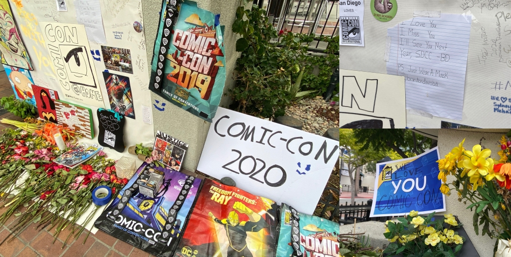 A shrine to comic-con in the gaslamp