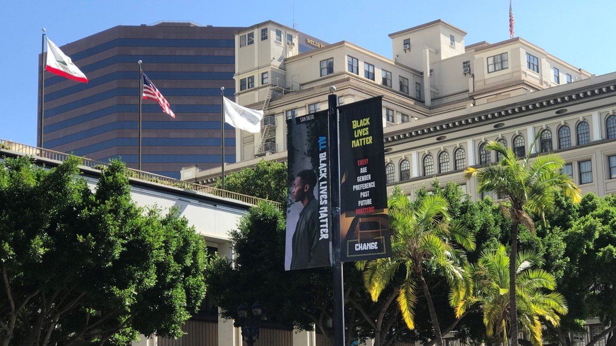 All Black Lives Matter Art Installation Unveiled In Downtown San Diego Nbc 7 San Diego