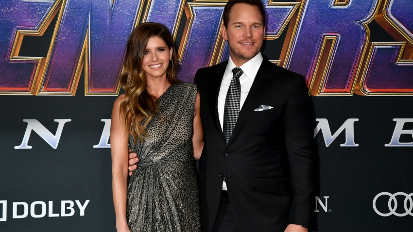"Katherine Schwarzenegger and Chris Pratt attends the World Premiere of Walt Disney Studios Motion Pictures ""Avengers: Endgame"" at Los Angeles Convention Center on April 22, 2019 in Los Angeles, California."