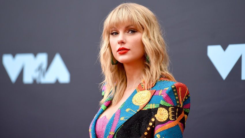 In this Aug. 26, 2019, file photo, Taylor Swift attends the 2019 MTV Video Music Awards at Prudential Center in Newark, New Jersey.