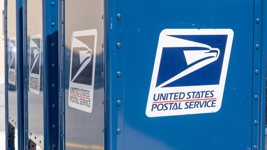 A United States Postal Service (USPS) mailbox.