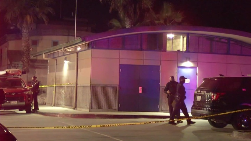 San Diego police respond to the fatal stabbing of a man in a Pacific Beach public bathroom.