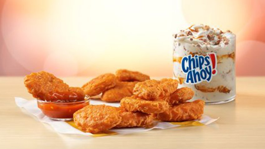 Spicy McNuggets and Chips Ahoy McFlurry