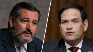 China sanctioned U.S. citizens in retaliation for sanctions made again Hong Kong last week. Sen. Ted Cruz, left, and Sen. Marco Rubio were two of the 11 listed by Beijing on Monday.