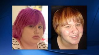 Photos of a teen girl reported missing