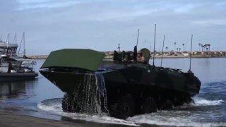 A new U.S. Marine Amphibious Combat Vehicle (ACV)