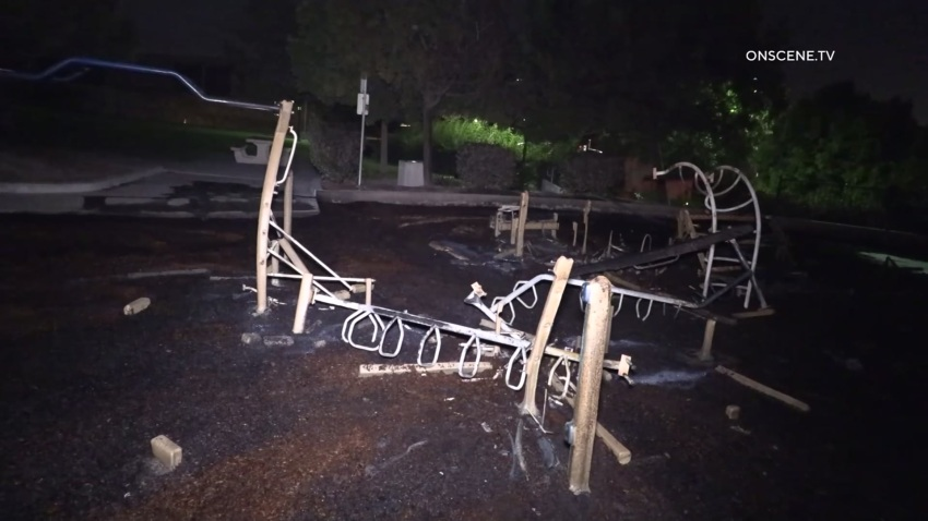 Authorities in Chula Vista are investigating a suspicious fire at Veterans Park.