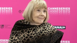 Dame Diana Rigg attends her masterclass during the 2nd Canneseries International Series Festival on April 6, 2019 in Cannes, France.