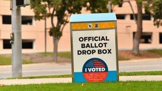 An official ballot drop box.