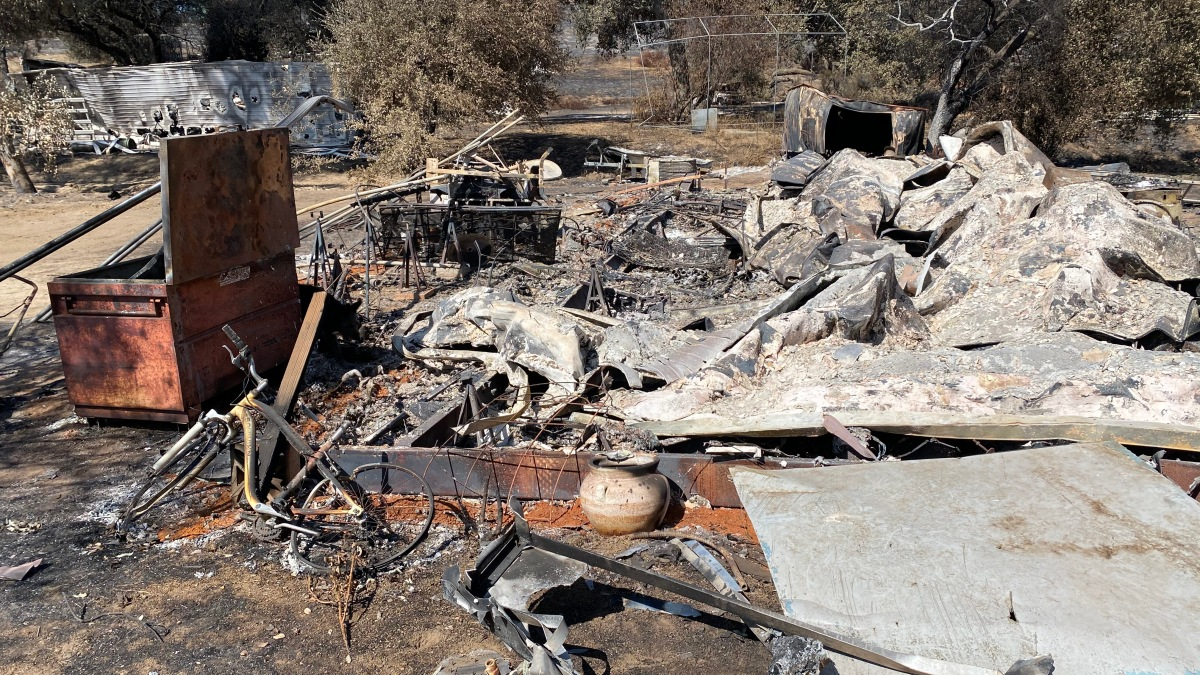 Valley Fire Victim Determined to Rebuild Despite Not Having Fire Insurance