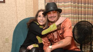 In this Sept. 17, 2019, file photo, Loretta Lynn and Kid Rock attend the 2019 Nashville Songwriters Awards at Ryman Auditorium in Nashville, Tennessee.
