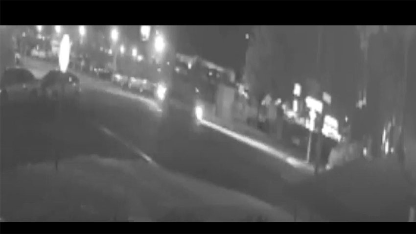 Blurry Screen shot of video showing the car that fled the hit-and-run