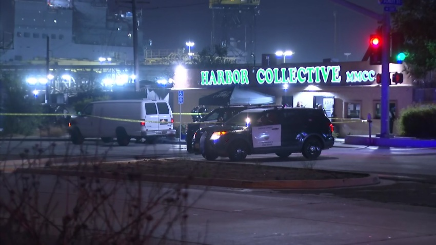 The scene of a deadly shooting in Barrio Logan on Sept. 25, 2020.