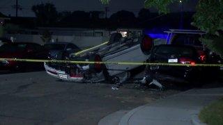 The scene of a fatal crash in Chula Vista.
