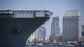 USS Carl Vinson arrives in San Diego